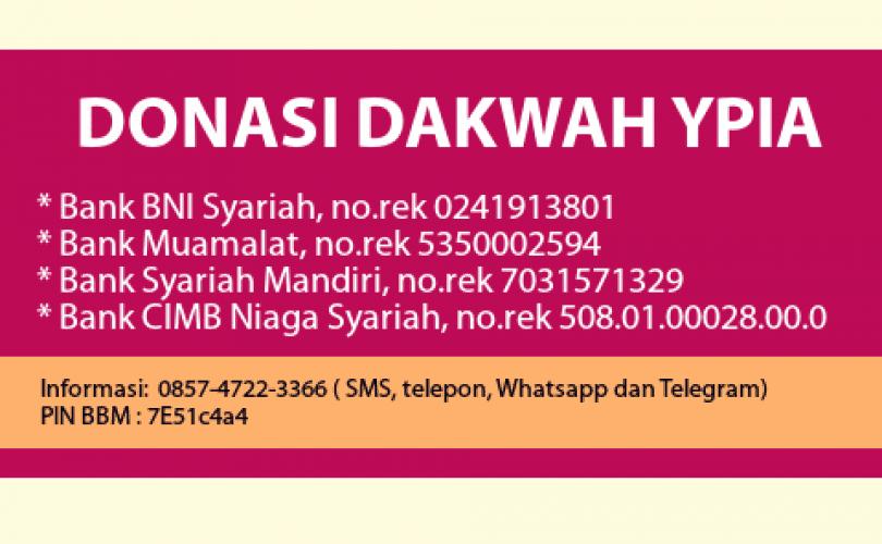 Laporan Donasi YPIA periode Bulan Oktober 2016