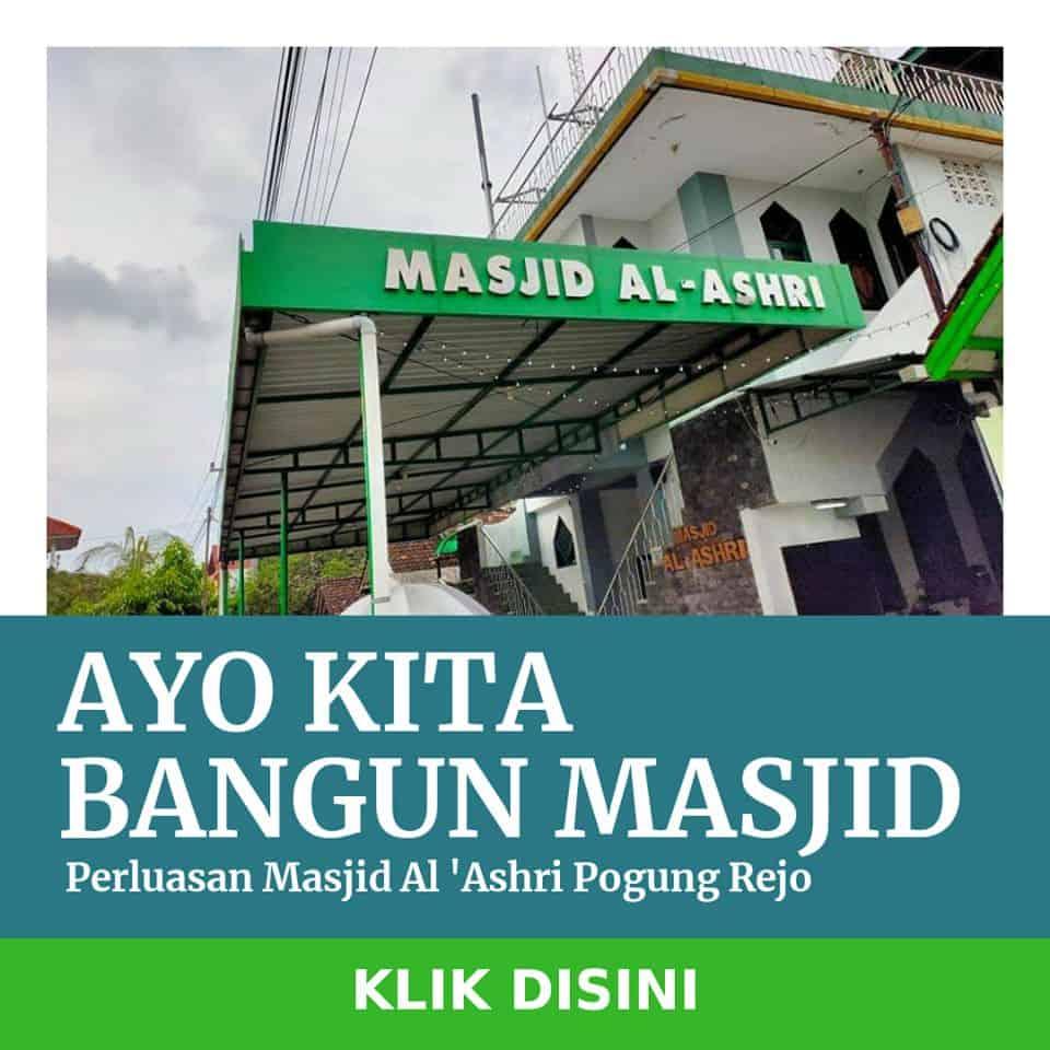Donasi masjid al ashri pogung rejo